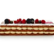 Mille-Feuille Vanille : pâte feuilleté et crème vanille ou framboises fraiches chantilly