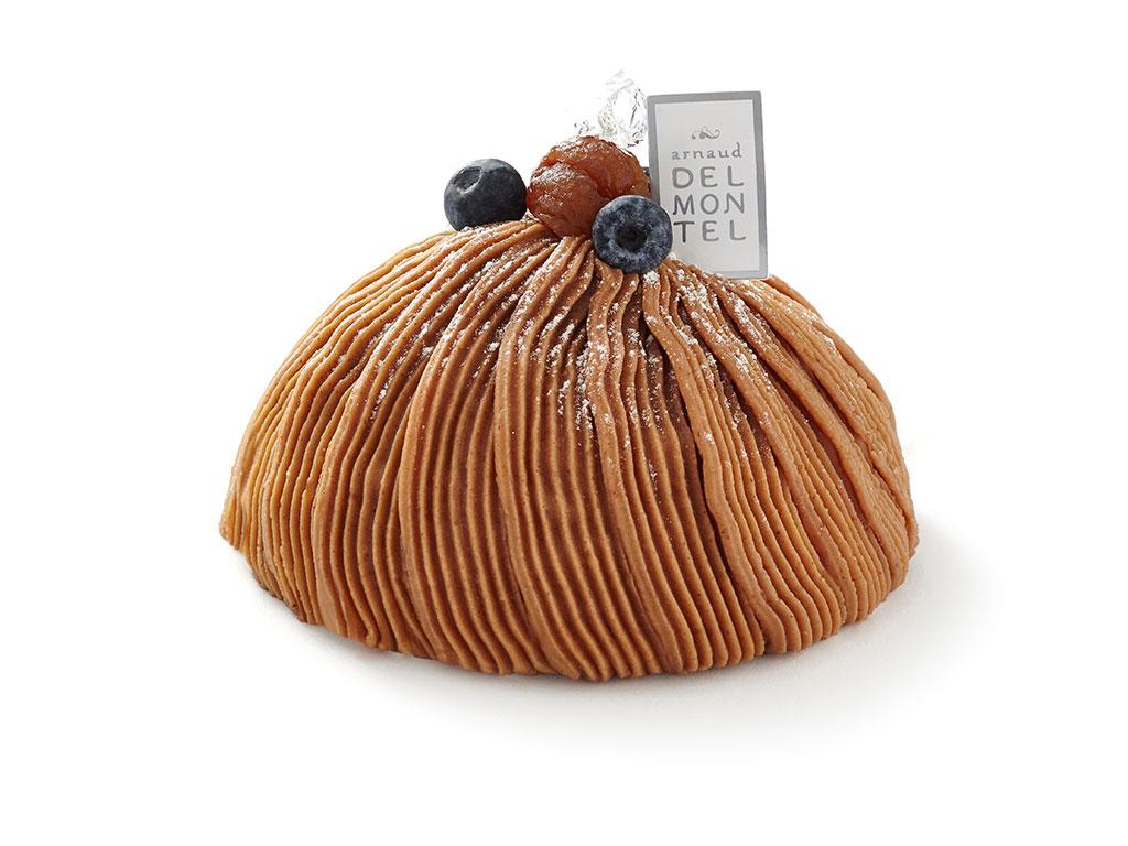 Mont-Blanc : crème de marron, meringue et cœur de cassis