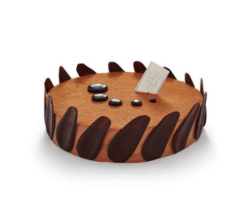 Acaoba :mousse au chocolat noir BIO, crémeux chocolat noir BIO, biscuit au chocolat noir sans farine